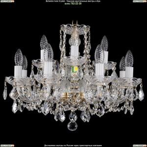 1402/8+4/195/G/Leafs Хрустальная подвесная люстра Bohemia Ivele Crystal (Богемия)