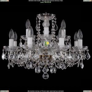 1402/8+4/195/Pa/Leafs Хрустальная подвесная люстра Bohemia Ivele Crystal (Богемия)