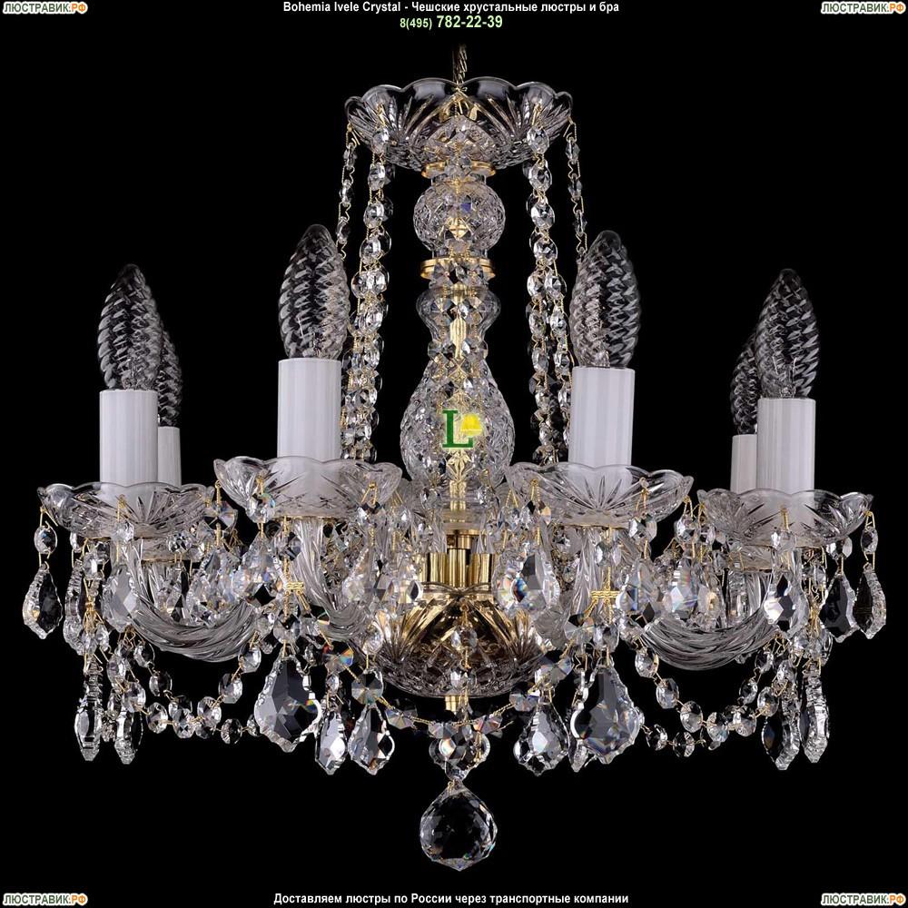 1402/8/141/G/Leafs Хрустальная подвесная люстра Bohemia Ivele Crystal (Богемия)
