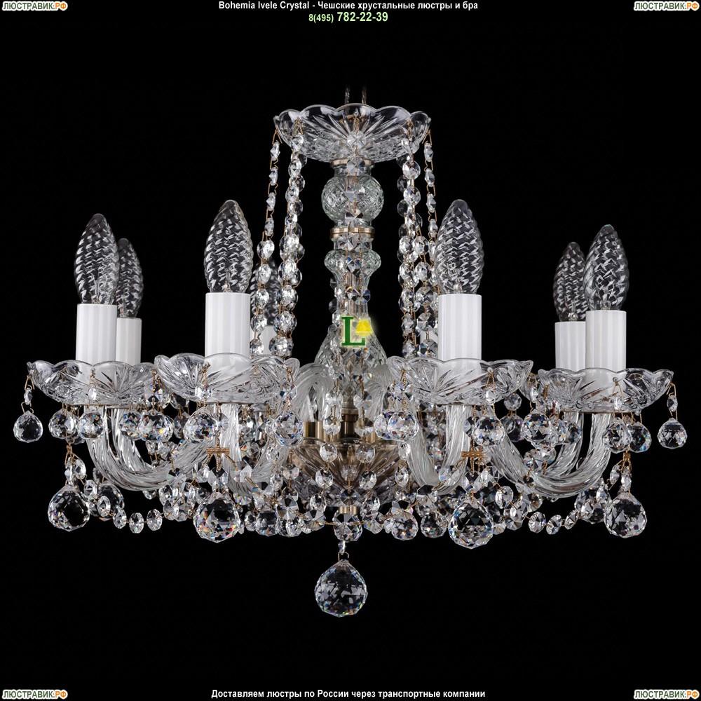 1402/8/160/Pa/Balls Хрустальная подвесная люстра Bohemia Ivele Crystal (Богемия)
