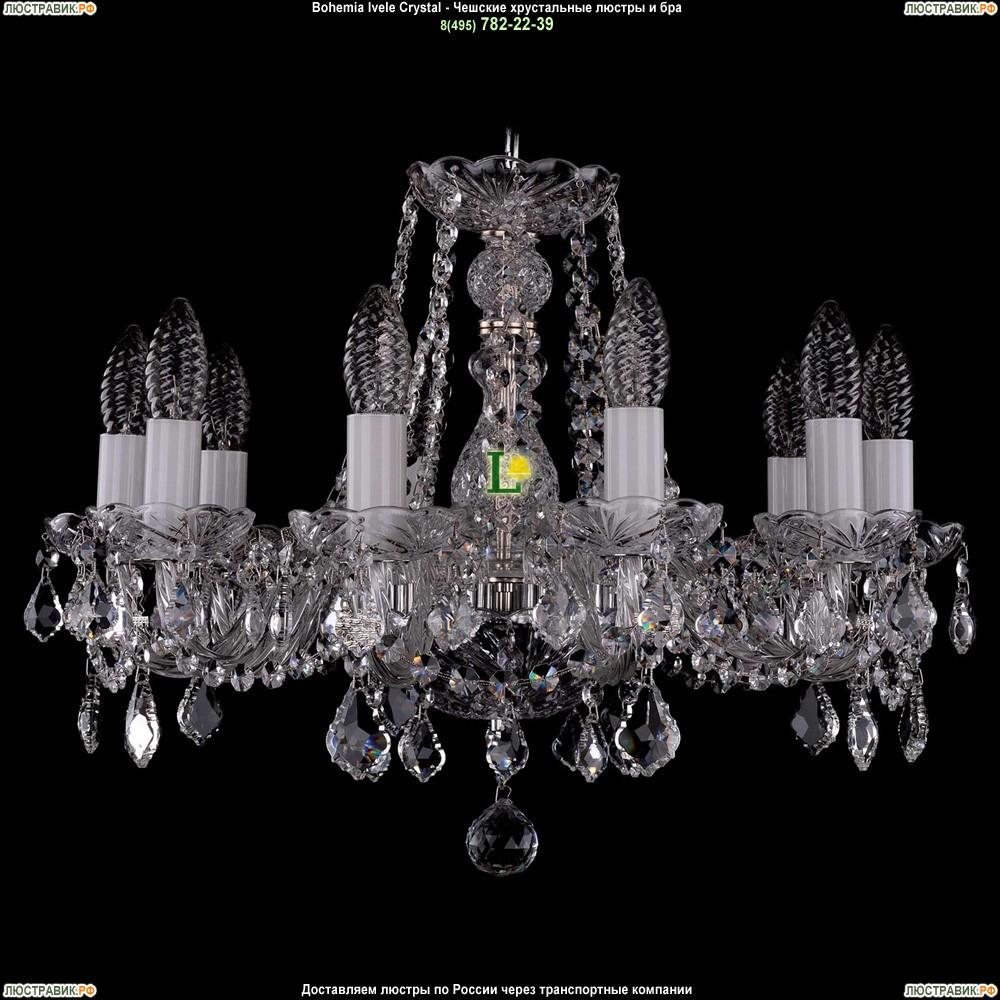 1402/10/160/Ni/Leafs Хрустальная подвесная люстра Bohemia Ivele Crystal (Богемия)