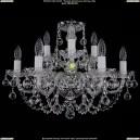 1406/6+3/195/Ni/Balls Хрустальная подвесная люстра Bohemia Ivele Crystal (Богемия)