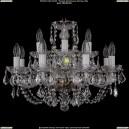 1406/8+4/195/Pa/Leafs Хрустальная подвесная люстра Bohemia Ivele Crystal (Богемия)