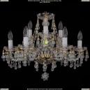 1410/6+3/195/G/V0300 Хрустальная подвесная люстра Bohemia Ivele Crystal (Богемия)