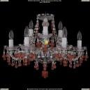 1410/6+3/195/Ni/V7010 Хрустальная подвесная люстра Bohemia Ivele Crystal (Богемия)
