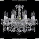 1413/8/165/Ni/Leafs Хрустальная подвесная люстра Bohemia Ivele Crystal (Богемия)