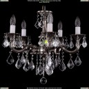 1701/5/B/NB/Leafs Хрустальная подвесная люстра Bohemia Ivele Crystal (Богемия)