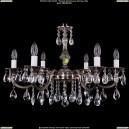 1702/6/A/NB Хрустальная подвесная люстра Bohemia Ivele Crystal (Богемия)