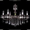 1702/6/B/NB/Leafs Хрустальная подвесная люстра Bohemia Ivele Crystal (Богемия)