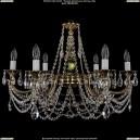 1702/6/C/GB Хрустальная подвесная люстра Bohemia Ivele Crystal (Богемия)