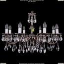 1702/8/A/NB Хрустальная подвесная люстра Bohemia Ivele Crystal (Богемия)