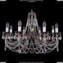 1702/8/C/NB Хрустальная подвесная люстра Bohemia Ivele Crystal (Богемия)