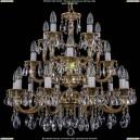 1702/10+5+5/265-68/A/GB Большая хрустальная подвесная люстра Bohemia Ivele Crystal (Богемия)