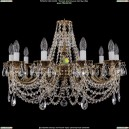 1702/10/C/GB Хрустальная подвесная люстра Bohemia Ivele Crystal (Богемия)
