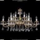 1703/14/A/GW/Leafs Хрустальная подвесная люстра Bohemia Ivele Crystal (Богемия)