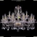 1413/10+5/300/G Хрустальная подвесная люстра Bohemia Ivele Crystal (Богемия)