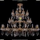 1702/16+8+8/335+265/A/FP Большая хрустальная подвесная люстра Bohemia Ivele Crystal (Богемия)