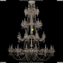 1702/16+8+8+8/335+265/C/GW Большая хрустальная подвесная люстра Bohemia Ivele Crystal (Богемия)