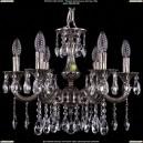 1701/6/A/NB Хрустальная подвесная люстра Bohemia Ivele Crystal (Богемия)
