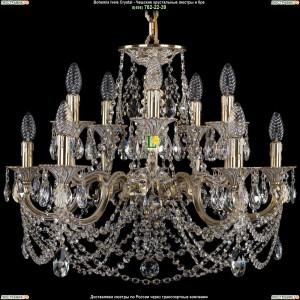 1702/5+5/265+110/C/GW Хрустальная люстра Bohemia Ivele Crystal (Богемия)
