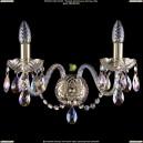 1400/2/G/BIG/M701 Хрустальное бра Bohemia Ivele Crystal (Богемия)