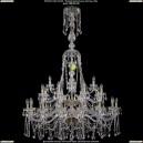 1413/16+8+4/400-160/2d/G Хрустальная подвесная большая люстра Bohemia Ivele Crystal (Богемия)