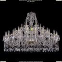 1413/24+12+6/530-100/G Хрустальная подвесная большая люстра Bohemia Ivele Crystal (Богемия)