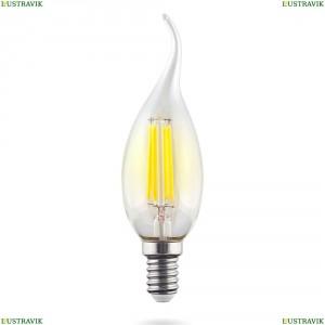 7095 (VG10-CW1E14cold9W-F) Лампа светодиодная филаментная филаментная E14 9W 4000К прозрачная Voltega (Вольтега), Crystal