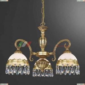 L 7961/3 Люстра подвесная Reccagni Angelo, 3 плафона, французское золото