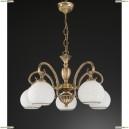 L 8400/5 Люстра подвесная Reccagni Angelo, 5 плафонов, бронза, белый