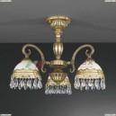 PL 7981/3 Люстра потолочная Reccagni Angelo, 3 плафона, французское золото