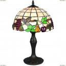 OML-80304-01 Настольная лампа Omnilux тиффани, 1 лампа, бронза (Омнилюкс)