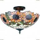 OML-80407-03 Люстра потолочная Omnilux тиффани, 3 лампы, бронза (Омнилюкс)