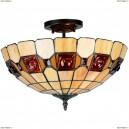OML-80507-03 Люстра потолочная Omnilux тиффани, 3 лампы, бронза (Омнилюкс)