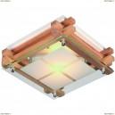 OML-40517-02 Светильник квадратный настенно-потолочный Omnilux, 2 лампы, сосна (Омнилюкс)