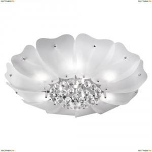 804040 Люстра потолочная хрустальная Lightstar Lobo, 9 ламп, хром, белый, прозрачный
