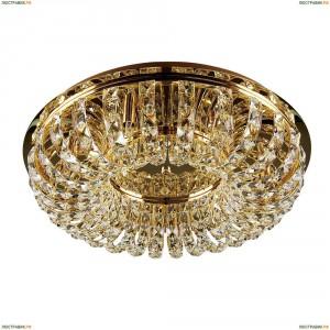 741072 Люстра потолочная хрустальная Lightstar Onda, 7 ламп, золото, прозрачный