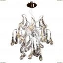 794194 Люстра подвесная Lightstar Manica, 9 ламп, хром, янтарный с дымчатым и прозрачным
