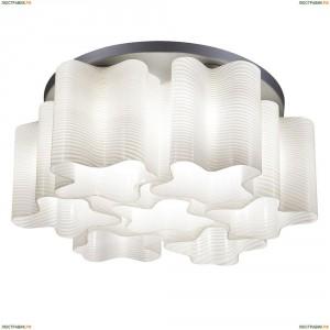 802071 Люстра потолочная Lightstar Simple Light, 7 плафонов, хром, белый