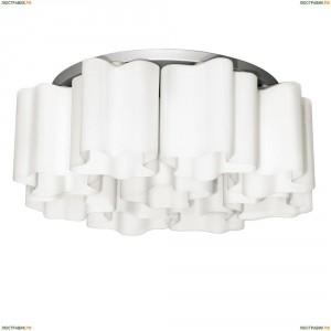 802090 Люстра потолочная Lightstar Simple Light, 7 плафонов, хром, белый