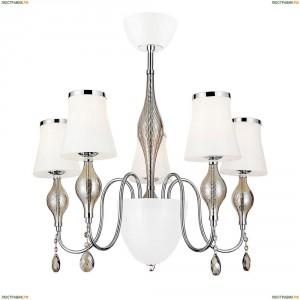 806050 Люстра подвесная Lightstar, 5 плафонов, белый, хром
