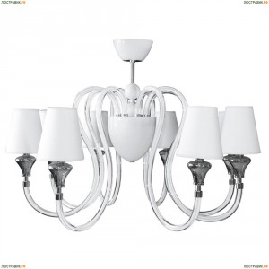 809086 Люстра потолочная Lightstar Simple Light, 9 ламп, хром, белый