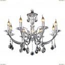 694084 Люстра подвесная хрустальная Osgona Stregaro, 8 ламп, хром, прозрачный