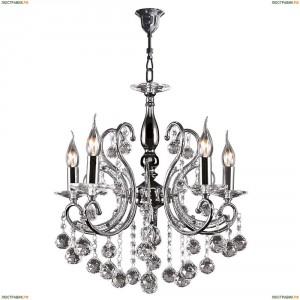 708054 Люстра подвесная Osgona Elegante, 5 плафонов, хром, прозрачный