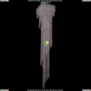 8317/40-215/Ni/R14 Хрустальная люстра большая каскадная Bohemia Ivele Crystal (Богемия)