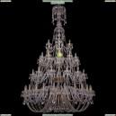 1406/24+12+12+6/530-230/4d/G Хрустальная большая люстра Bohemia Ivele Crystal (Богемия)