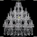 1413/12+12+6/300-90/3d/Ni Хрустальная подвесная люстра Bohemia Ivele Crystal (Богемия)