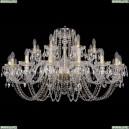 1402/16+8/400/G Хрустальная подвесная люстра Bohemia Ivele Crystal (Богемия)