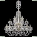1402/16+8+4/400/XL-160/2d/G Хрустальная подвесная люстра Bohemia Ivele Crystal (Богемия)