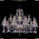 1413/10+5/300/G/Leafs Хрустальная подвесная люстра Bohemia Ivele Crystal (Богемия)